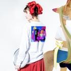 -ishのGINGA Long sleeve T-shirtsの着用イメージ(裏面・袖部分)