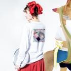 ハナイトのGo with the 風呂(黄ヒヨコ) Long sleeve T-shirtsの着用イメージ(裏面・袖部分)