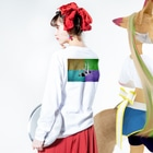 PSYCHEDELIC ART Y&Aの脱落 Long sleeve T-shirtsの着用イメージ(裏面・袖部分)