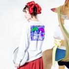 hatam.incのゆうみい Long sleeve T-shirtsの着用イメージ(裏面・袖部分)
