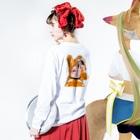 Raymond Gomez澪の- emo girl - エモガール Long sleeve T-shirtsの着用イメージ(裏面・袖部分)