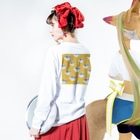なるのパターン(スマイル セットで120円) Long sleeve T-shirtsの着用イメージ(裏面・袖部分)