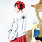 GiMME by dollyのGiMME / Half Skull LongSleeve T-shirts Long sleeve T-shirtsの着用イメージ(裏面・袖部分)
