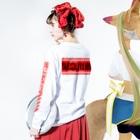 加藤亮の電脳チャイナパトロール(緊急出動) Long Sleeve T-Shirtの着用イメージ(裏面・袖部分)