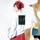 SMCのcity Long Sleeve T-Shirtの着用イメージ(裏面・袖部分)