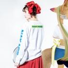 2753GRAPHICSのTHE NAKASE TV ロンTEE Long sleeve T-shirtsの着用イメージ(裏面・袖部分)