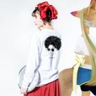 ChRiSUMAのChRiSUMA AFRO ChRiSUMA  Long Sleeve T-Shirtの着用イメージ(裏面・袖部分)