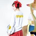 !?のSMILY PEOPLE Long sleeve T-shirtsの着用イメージ(裏面・袖部分)