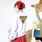 Hi-BoのI Love Poodle(ビクッ!!) Long sleeve T-shirtsの着用イメージ(裏面・袖部分)