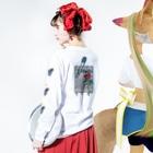 派菜/花田のValhalla ロンT(伊風カラー) Long sleeve T-shirtsの着用イメージ(裏面・袖部分)