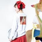 poqpoqのぬくい Long sleeve T-shirtsの着用イメージ(裏面・袖部分)