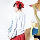 加藤亮の電脳チャイナパトロール Long Sleeve T-Shirtの着用イメージ(裏面・袖部分)