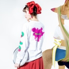 🌈Queer/sin🌈のキチウサちゃん🌈💕✨ Long sleeve T-shirtsの着用イメージ(裏面・袖部分)