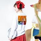 niodio(ニオディオ)のローリングソバット Long sleeve T-shirtsの着用イメージ(裏面・袖部分)