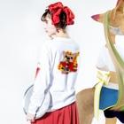 彩羽 匠 takumi irohaのわさイラスト Long Sleeve T-Shirtの着用イメージ(裏面・袖部分)