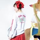 iiTAI-DAKE    -  イイタイダケ  -の虎尾TIGERTAIL-エクストラホット- Long sleeve T-shirtsの着用イメージ(裏面・袖部分)