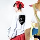 Tokiwa brosの翁 Long sleeve T-shirtsの着用イメージ(裏面・袖部分)