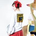 やの のすけのタバコのチラシ Long sleeve T-shirtsの着用イメージ(裏面・袖部分)