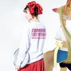 KohsukeのZombie You! (pink print) Long sleeve T-shirtsの着用イメージ(裏面・袖部分)