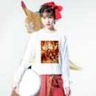 HAKO NO KIMAGUREの平日マスクグラフィック-レトロ- Long sleeve T-shirtsの着用イメージ(表面)