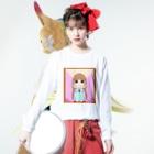 ♈海咎🌊のみつあみちゃん Long sleeve T-shirtsの着用イメージ(表面)