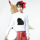 HUGオフォシャルショップのPretty Little Kitty Cat Long sleeve T-shirtsの着用イメージ(表面)