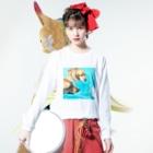 ☻ ⓝɐⓣsⓤʞⓞ ☻の穀物ズのプール日和 Long sleeve T-shirtsの着用イメージ(表面)