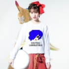 KIKITEKI_LABORATORYのPONITE GAL 青 × 紫 Long Sleeve T-Shirtの着用イメージ(表面)