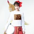 waon_nyanのキモイ犬 Long sleeve T-shirtsの着用イメージ(表面)