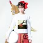 Neji pojiの「りんごさん」 Long sleeve T-shirtsの着用イメージ(表面)
