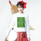 いちご2415の相合い傘 Long sleeve T-shirtsの着用イメージ(表面)