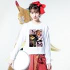 さーちゃん💓の飼い犬のわんちゃん💓 Long sleeve T-shirtsの着用イメージ(表面)