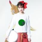 junsen 純仙 じゅんせんのJUNSENSETA(瀬田純仙)古代絵者1緑紫 Long sleeve T-shirtsの着用イメージ(表面)