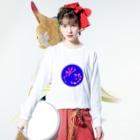 junsen 純仙 じゅんせんのJUNSENSETA(瀬田純仙)古代絵者2B Long sleeve T-shirtsの着用イメージ(表面)