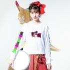 加藤亮の老犬喰 Long sleeve T-shirtsの着用イメージ(表面)