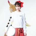 メイドイン極楽スズリ店の背中に二頭の虎 Long sleeve T-shirtsの着用イメージ(表面)