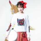 中村杏子のパーラー箱庭 Long sleeve T-shirtsの着用イメージ(表面)