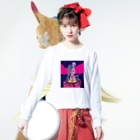 クドウカリン オンライン ショップのゲームセンター Long sleeve T-shirtsの着用イメージ(表面)