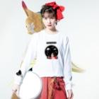 テンテン商店 in SUZURIのテンテンコ お絵かきシリーズ ~✰宇宙✰~ Long sleeve T-shirtsの着用イメージ(表面)