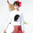 DAIGAKUKUNの落ち込む女性 Long sleeve T-shirtsの着用イメージ(表面)