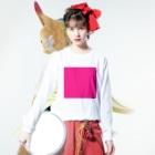Teatime ティータイムのティータイムピンクブランド ピンクキューブ loveバージョン Long sleeve T-shirtsの着用イメージ(表面)