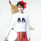 mashibuchiのくろロボットコンビ Long sleeve T-shirtsの着用イメージ(表面)