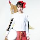 azasuのっっh Long sleeve T-shirtsの着用イメージ(表面)