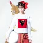 【三角形の穴】の▼5-P【逆三角形の穴】 Long sleeve T-shirtsの着用イメージ(表面)
