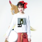mashibuchiのロボットのB Long sleeve T-shirtsの着用イメージ(表面)