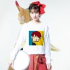 りおたの夜22時のドラマにありがちなキス顔 Long sleeve T-shirtsの着用イメージ(表面)