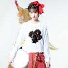 amasariの花火 Long sleeve T-shirtsの着用イメージ(表面)