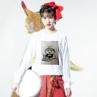nico502のバーコード店長   ファーストフード編 Long sleeve T-shirtsの着用イメージ(表面)