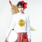 中崎町 カフェ マラッカのコウメレモン Long sleeve T-shirtsの着用イメージ(表面)