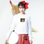 minminmikotanのイカリシンタ Long sleeve T-shirtsの着用イメージ(表面)